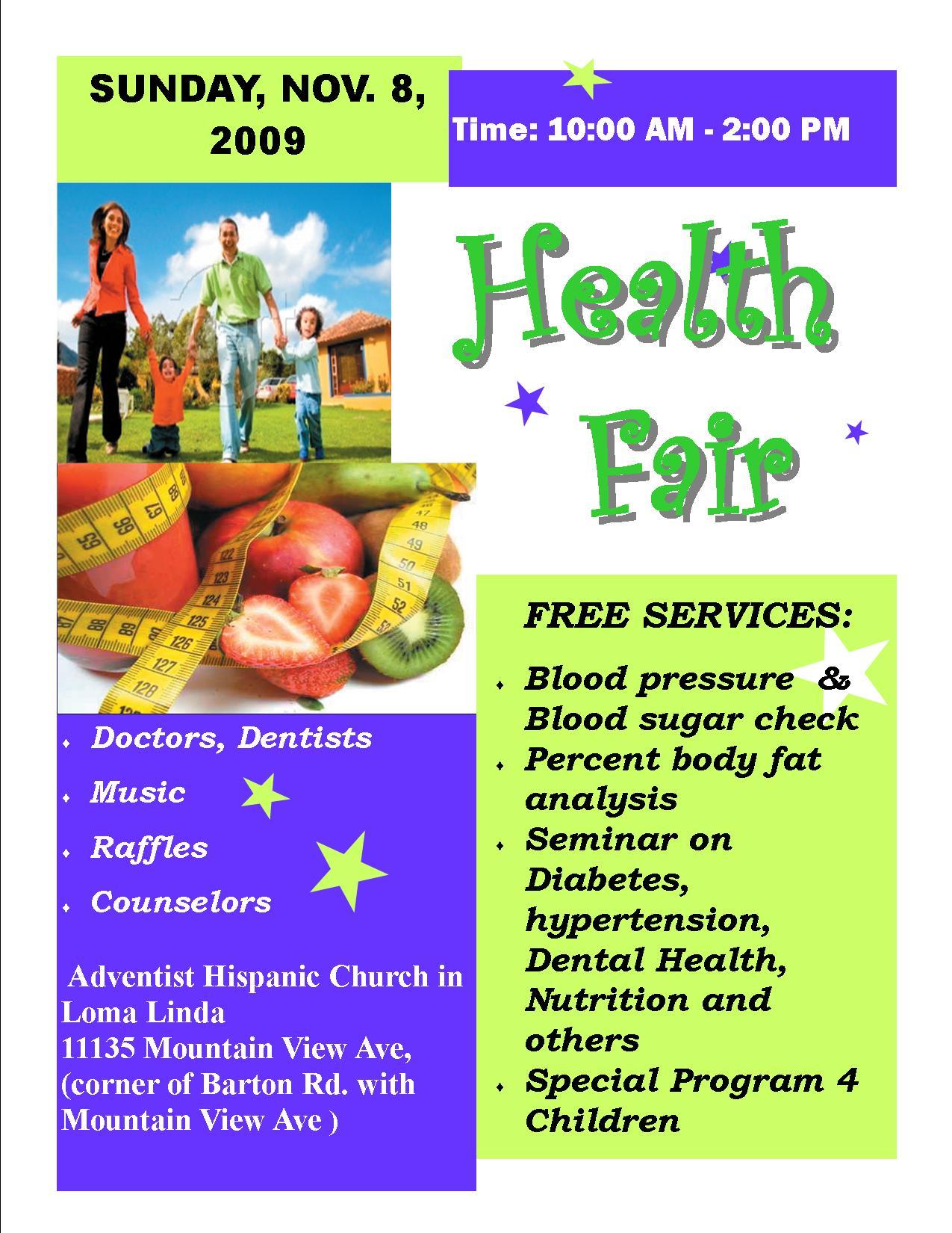 Health Fair Flyer Template. the portfolio of muhammad shakeel ...